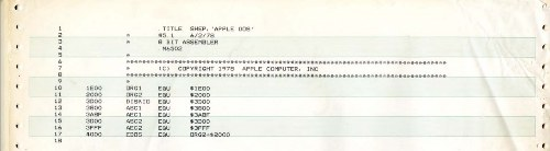 Company History Museum and Digibarn Computer Museum publish source codes for historic Apple's software