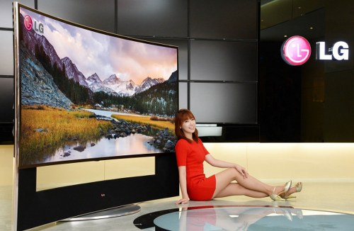 LG introduces 105-inch curved ultra HD TV