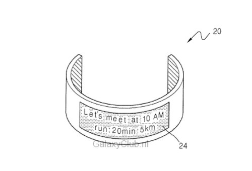Samsung files patent for wearable device with flexible display