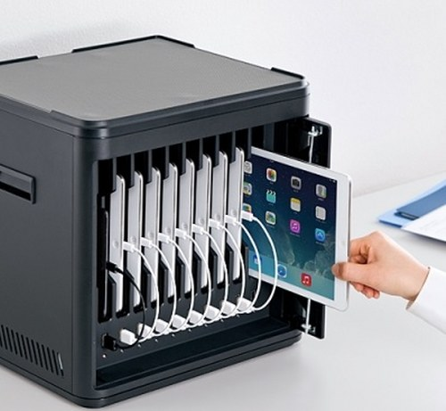 Sanwa Supply releases 100-CAB001BK cabinet for storing 10 tablets