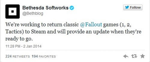 Classsic Fallout games will be available at Steam store