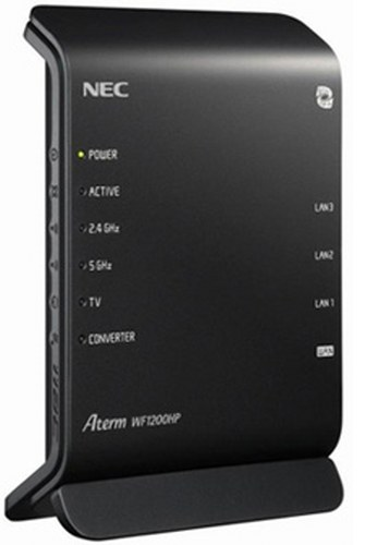 NEC dual-band WiFi router Aterm WF1200HP